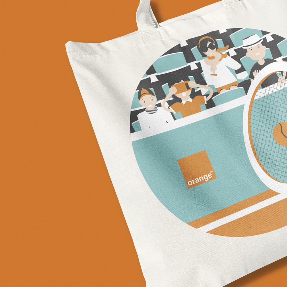 afec conception sac coton orange