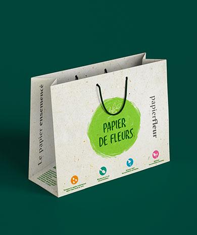 sac papier de fleurs eco-responsable