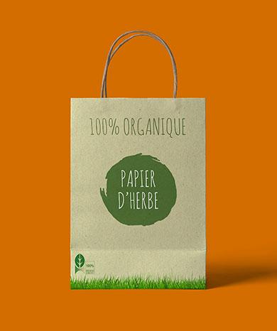 sac papier herbe organique