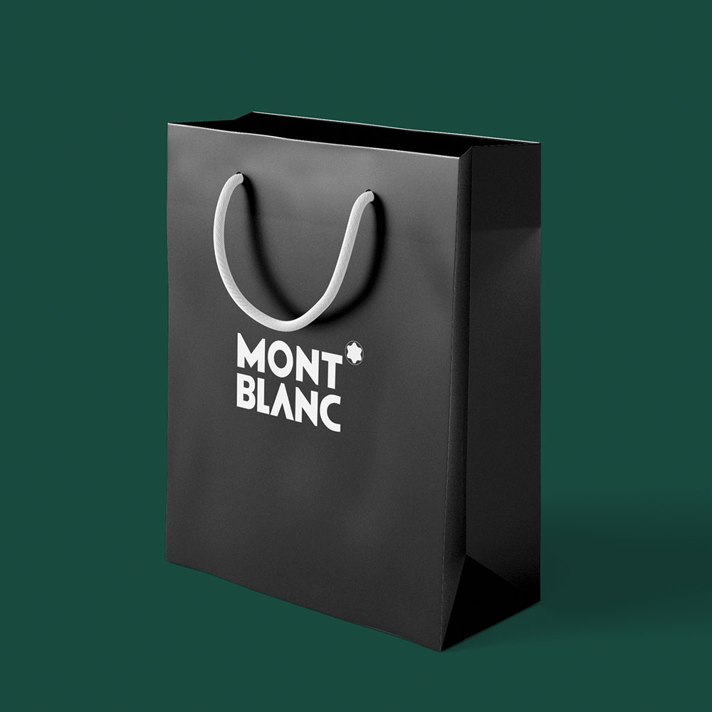sac papier mont blanc luxe recyclable